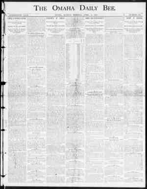 """THE OMAHA DAILY BEE , m * > I NINETEENTH YEAH. CXMAHA , MONDAY"""" MOBNING , APRIL 14 , 1890. NUMBER 294. SAMUEL J , RANDALL IS"""