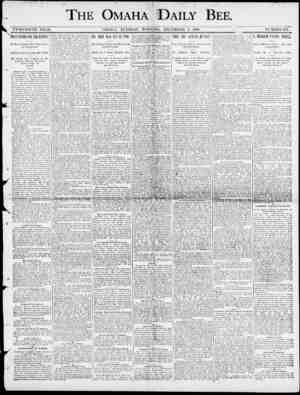 7 / THE OMAHA DAILY BEE. TWENTIETH : YEAR. OMAHA , TUESDAY MORNlN.G , DECEMBER 9 , 1800. NUMBER 174. \ The Mutineers Steal a