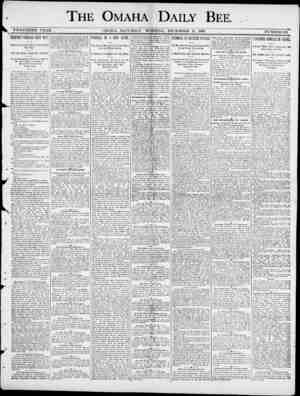 THE OMAHA DAILY BEE TWENTIETH YEAR. OMAHA , SATURDAY MORNING , DECEMBER 13. 1890. NUMBER 178. FRIENDLY INDIANS SENT OUT ,...