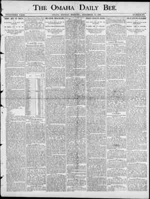 THE OMAHA I DAILY BEE TWENTIETH YT3AE. OMAHA , MONDAY MORNING , DECEMBER 1.5 , 1890. NUMBER180. HOOPS WE ON INDIANS , A...