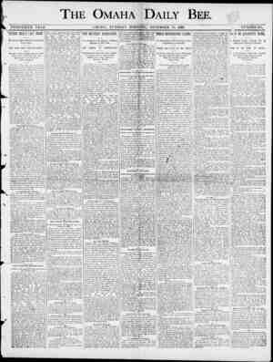 "THE OMAHA I DAILY BEE. TWENTIETH YEAE. OMAHA , TUESDAY DECEMBER 10 , 1890 , JNtFiMBER 181. \ DIT'FIVP nil ! I IP T f""P PTfMIT"