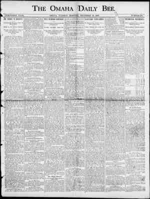 "THE OMAHA DAILY BEE. ifii * . \ TWENTIETH. YEAK. OMAHA , TUESDAY MORNING , DEOEMBEE 23 , 1890. & \ NUMBER 188. Ai"" t * \ gf"