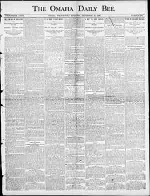THE OMAHA DAILY BEE. ! i TWENTIETH YEAH. OMAHA. WEDNESDAY MQENINGr , DECEMBER 24 , 1890. . NUMBER 18ft. THE CAMPAIGN OF...