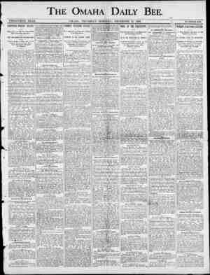 r THE OMAHA DAILY BEE. \ TWENTIETH YEAB. OMAHA , THURSDAY MORNING , DECEMBER 25 , 1890. . \ 5 . NUMBEK100. CAPTURED INDIANS