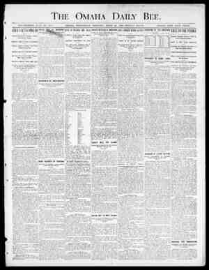 The Omaha Daily Bee. ESTABLISH ED JUNE 1!, 1871. OMAHA, WEDNESDAY MO EXT. NO, APRIL 25, 1000 TWELVE PAGES. SINGLE COPY FIVE