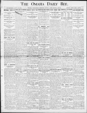 The Omaha Daily Bee. y ESTABLISHED JUKE 19, 3 871. OMAHA, WEDNESDAY IMOlfNlK G, JUNE (, 1D00-TWELVE PAGES. SING LB 0Ol?r...