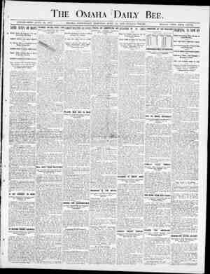 "The Omaha Daily Bee. xjvnjui&iiuu juae 19, 1871. SOME RAYS OF U0PElTAL""A6E OMAHA, WEDNESDAY MOHNIKGr, JUNE l, 1DOO-TWELYE..."