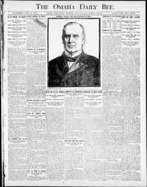 aily Bee. ESTABLISHED JUNE 19, 1871, OMAHA, WEDNESDAY aiOHTSTNfi-, .IUXE L'O, lilOO-TWWiVE PAGES. SINGLE COPY FIVE CENTS. The