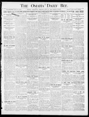 The Omaha 3 Daily Bee. ESTABLISHED JUKE JO, 1871. OMAHA, WEDNESDAY 31011X13 0. J UN 13 27, 1D00-TW I3L.VE PAGES. SINGLE COPY