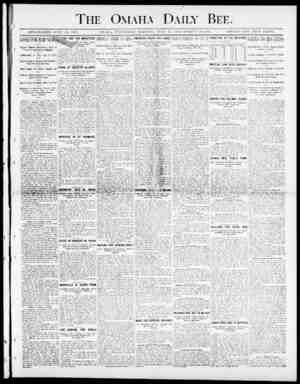 "Daily Bee. ( ESTABLISHED JU'E 19. 1S71. OMAHA. TTEIESDAY MOKfRTG. JITLT 23. 1900-TsVELVE PAGES. SINGLE COPY"" FIVE CE""TS. The"