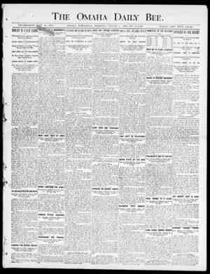 The Omaha Daily Bee. A ESTABLISHED 1. 1871. OMAJIA, WEDXKSDA V MOlTXINCJ, AHSI'ST 1, HIOO-THX TA(3 MS. S1N(5LI0 COPY FiVK...