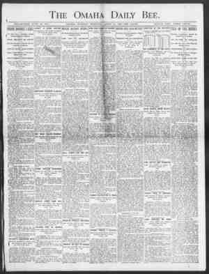 I The Omaha Daily Bee. -KSTADLISHED JUNE 19, 1871. OMAHA, TUESDAY MOltNING, APRIL 14, 1903 TEN PAGES. SINGLE COPY THREE...