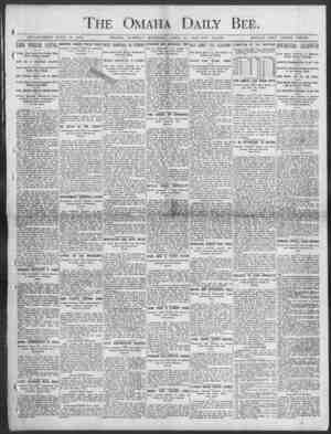 Daily Bee. JCSTANLISIIED JUNK 1, 1871. OMAHA, TUESDAY MORNING, AP1UI, 21, 1!)03 TEN PAGES. SINGLE COPY THREE CENTS. The Omaha