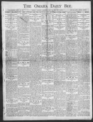 Daily Bee ESTABLISHED JUNE 19, 1871. OMAHA, TUESDAY MOHNINO, MAY 12, 1903 TEN PAGES. SINGLE COPY THIt EE CENTS. PLOWING IS