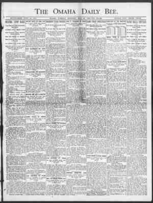 The Omaha Daily Bee. ESTABLISHED JUNE 19, 1871. OMAHA, TUESDAY MORNING, MAY . 26, 1003 TEN PAGES. SINGLE COPY THREE CENTS. (