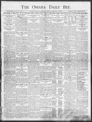 The Omaha Daily Bee. ESTABLISHED JUNE ID, 1871. OMAHA, TUESDAY MORNING, JUNE 10, 1903-TEN l'AGES. SINGLE COPY THREE CENTS.