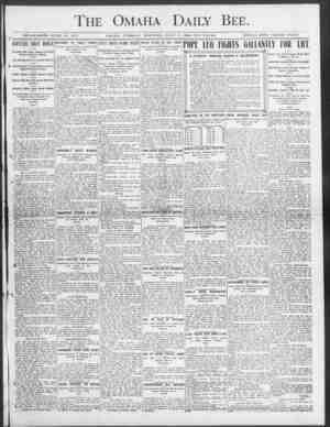 The Omaha Daily Bee. ESTAHL1SIIET) JUNE 19, 1871. OMAHA, TUJCSDAY 3101LMNG, JULY 7, 1903-TEN PAGES. SINGLK COPY TUliEE CENTS.