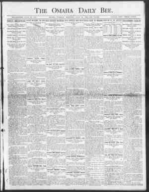 The Omaha Daily Bee. SINGLE COPY THREE CENTS. ESTABLISHED JUE 19, 1871. OMAHA, TUESDAY MORN ENG, JULY 28, 1003 TEN PAGES....