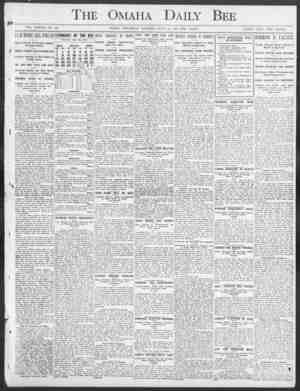 """The Omaha Daily Bee VOL. XXXVII NO. 32. OMAHA, THURSDAY MORNING, .TULA"""" 23, 1907 TEN PAGES. SINGLE COPY TWO CENTS. FEW MORE"""