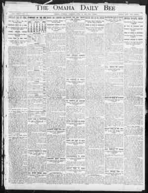 1 i The Omaha' Daily -Bee 4 vol. xxxvii-xo. :;i OMAHA, TUESDAY MORNING, JULY 30, 1907 TEX PAGES. SINGLE COPY TWO CENTS. m i