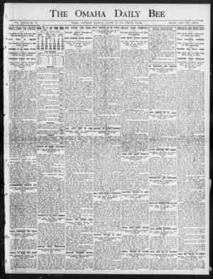 The Omaha Daily Bee VOL. XXXVII NO. 53. OMAHA, SATURDAY MORNING, AUGUST 24, 1907 TWELVE FAGES. SINGLE COFY TWO CENTS. 1...