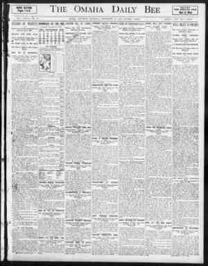 The 'Omaha Daily r NEWS SECTIOH. Pages 1 to B. Always Read THE OMAHA DEC Best ';. Vest VOL. XXXVII XO. 82. OMAHA, SATURDAY