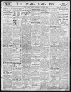 The Omaha Daily Bee HEWS SECTION. Pages 1 to 8. A4vrtl In THE OMAHA DEE Best West VOL. XXXVII NO. 88. OMAHA. SATURDAY...