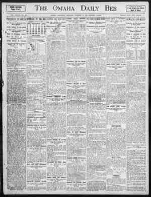 The Omaha Daily Bee HEWS SECTION. Pages 1 to 8. A Paper for th Horn THE OMAHA DEE Best West VOL. XXXVII NO. 94. OMA1IA,...