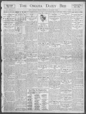 he Omaha . Daily Bee A rBr for th Hn THE OMAHA DEC Best West HEWS SECTIOII. Pages 1 to 8. VOL. XXXVII NO. 112. OMAHA,...