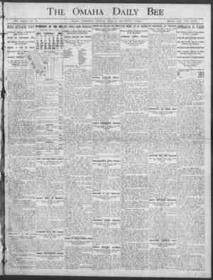 .u. Fhe Omaha ;: Dai,ly Bee V VOL. XXXVII NO. 2M. OMAHA, WEDNESDAY MORNING, AFRIL 8, 1908 TWELVE PAGES. SINGLE COPY TWO...