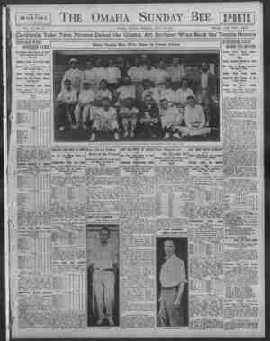 unday Bee. rKT rive. SPORTING pages orb to rouit. VOL. XL-NO. 5. OMAHA, SUNDAY MOKOTNO, JULY 17, 1910. SINGLE COPY FIVE...