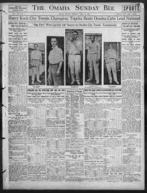 unday Bee FAST FOUR SPORTING SECTION PAGE3 ONE TO FOUR VOL. X LINO. 5. OMAHA, SUNDAY MOItNINO, JULY 23, 1911. SINGLE COVY...