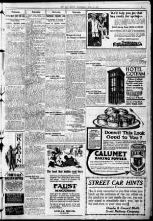 THE BEE: OMAHA. WEDNESDAY. APRIL 17. 1912. .!. Nebraska STATE MUST FOOT THE BILL Xoimal Board is Session to Comider . ..'...