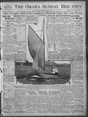 The Omaha Sunday Bee PART SIX SPORT SECTION T?AGE8 ONE TO TOUR VOL. XL1H.-NO, 4. OMAHA,' SUNDAY MORNING, JUIjY 18, '1918....