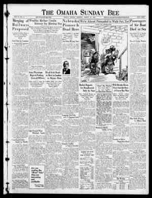 The Omaha Sunday Bee VOL. 5I-NO. 41. M W TIM liCtM laKIW St f, 0, tl.ew A-l tt Ik . OMAHA, SUNDAY MORNING, MARCH 20, 1922.