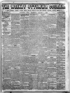 The Weekly Ottumwa Courier Gazetesi 1 Ocak 1857 kapağı