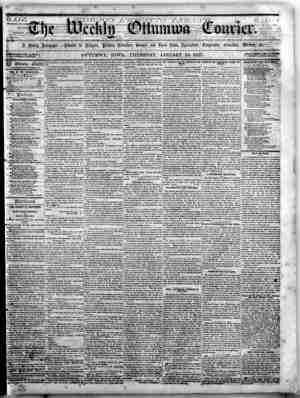 The Weekly Ottumwa Courier Gazetesi 15 Ocak 1857 kapağı
