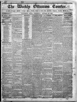 The Weekly Ottumwa Courier Gazetesi 22 Ocak 1857 kapağı