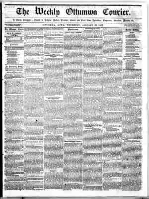 The Weekly Ottumwa Courier Gazetesi 29 Ocak 1857 kapağı