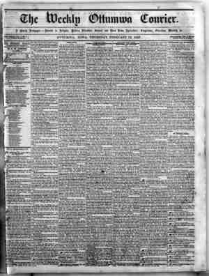 The Weekly Ottumwa Courier Gazetesi 12 Şubat 1857 kapağı
