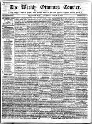 The Weekly Ottumwa Courier Gazetesi 12 Mart 1857 kapağı