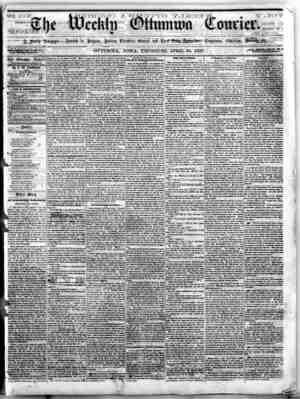 The Weekly Ottumwa Courier Gazetesi 30 Nisan 1857 kapağı