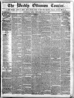 The Weekly Ottumwa Courier Gazetesi 14 Mayıs 1857 kapağı