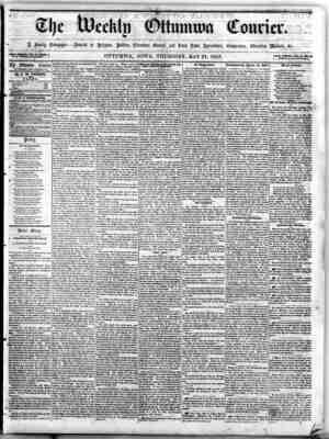 The Weekly Ottumwa Courier Gazetesi 21 Mayıs 1857 kapağı