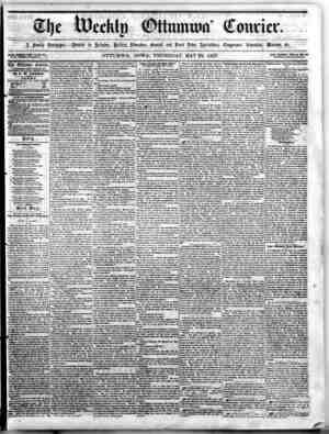 The Weekly Ottumwa Courier Gazetesi 28 Mayıs 1857 kapağı