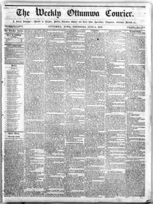 The Weekly Ottumwa Courier Gazetesi 4 Haziran 1857 kapağı