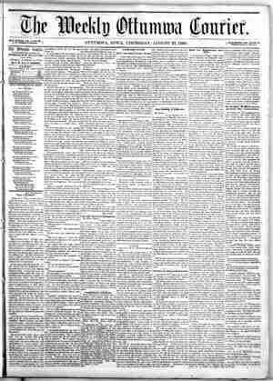 The Weekly Ottumwa Courier sayfa 1