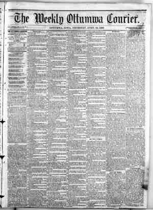 a-...., iiHJAUAe is«9fl 0 NEW 8ERIE8, VOL* IT, NO. 16.)^ J. W. NOllRIS,Proprietor. THE OTTUMWA COURIER IS PUBMSHKD Mil V...