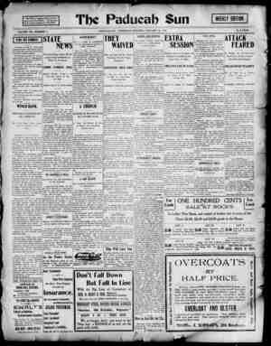 Paducah Sun Gazetesi 31 Ocak 1901 kapağı
