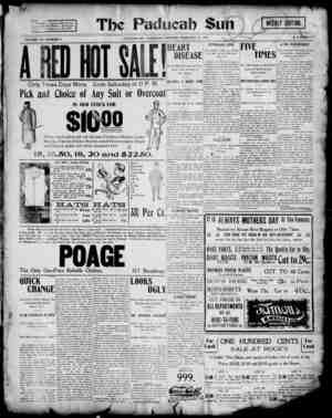 Paducah Sun Gazetesi 21 Şubat 1901 kapağı